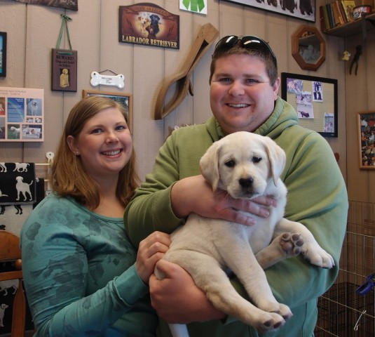 "This is ""Dug"". He will be loved by Tiffany and Ben Green Lake, WI"