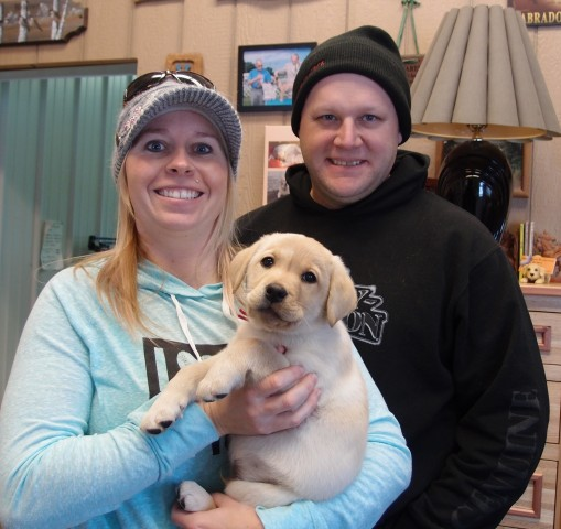 "RACHEL AND KEITH DROVE ACROSS THE STATE TO MEET ""MAVRIK"" -MR. RED"